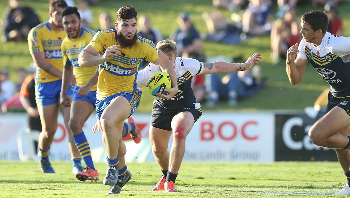 :		Digital image by Colin Whelan © copyright nrlphotos.com                     NYC  Rugby League, Round 20, North Queensland Cowboys v Parramatta Eels at Townsville, Monday 27th July 2015