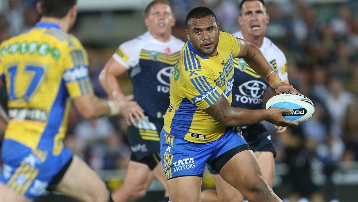 :		Digital image by Colin Whelan © copyright nrlphotos.com     Joseph Paulo                 NRL Rugby League, Round 20, North Queensland Cowboys v Parramatta Eels at Townsville, Monday 27th July 2015