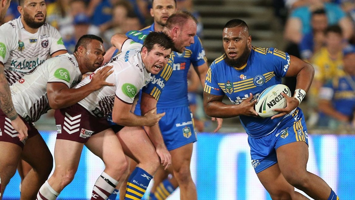 Dyldam Parramatta Eels forward Junior Paulo. Photo by Robb Cox ©nrlphotos.com