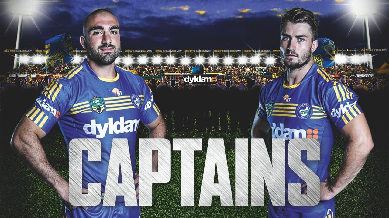 Andy Mannah presenting your 2016 eels captains - eels