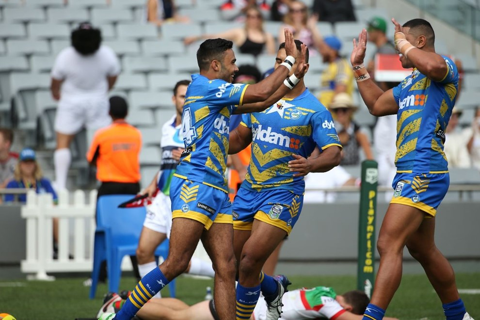 Eels v Rabbitohs:           2016 Downer NRL Auckland Nines at Mt Smart Stadium, Sunday 7th February 2016. Digital image by Fiona Goodall, copyright nrlphotos.com