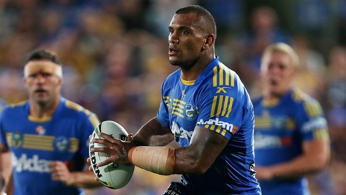 Dyldam Parramatta Eels second-rower Manu Ma'u. Photo by Grant Trouville