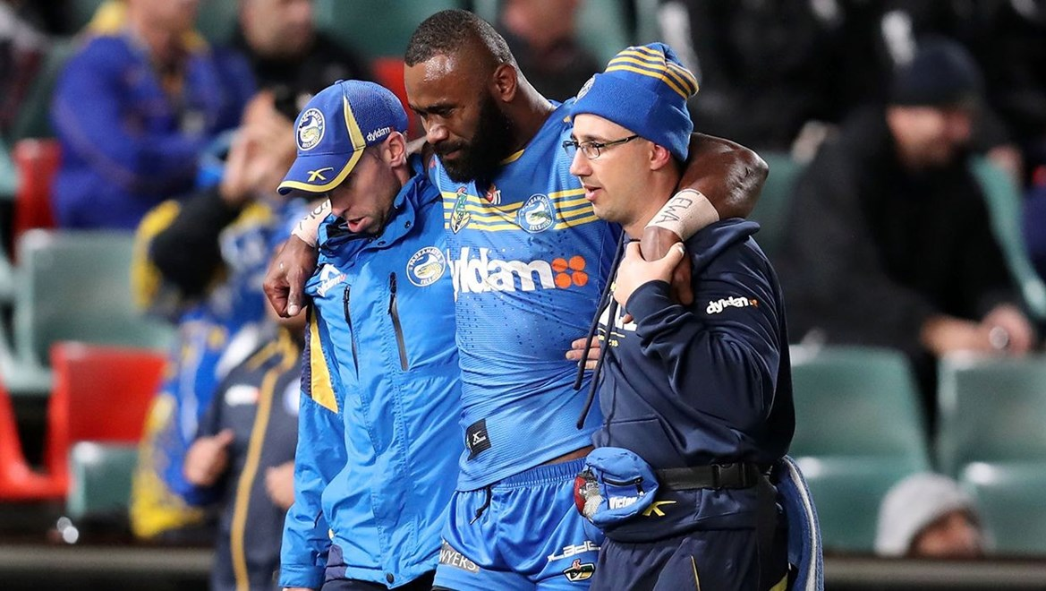 Dyldam Parramatta Eels winger Semi Radradra. Photo by Grant Trouville © NRL Photos.