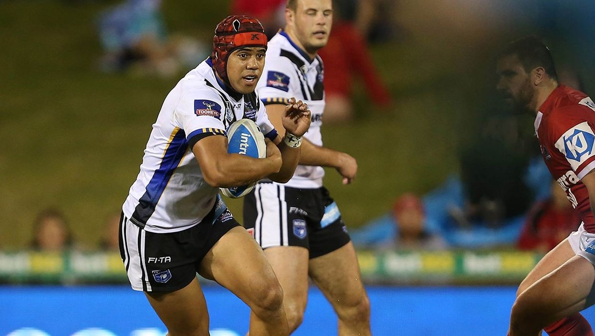 "Wentworthville Magpies winger Honeti Tuha in action against the Illawarra Cutters. Photographer€"" Robb Cox"