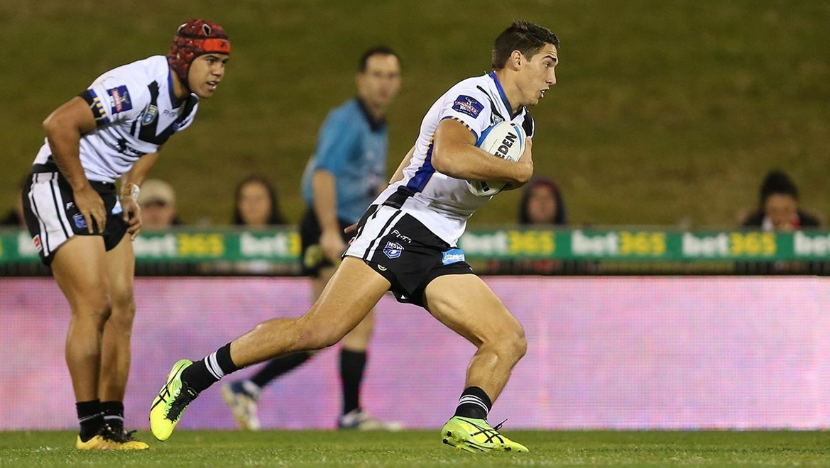 Wentworthville Magpies winger Scott Schulte in action. Photo by NRLphotos.com