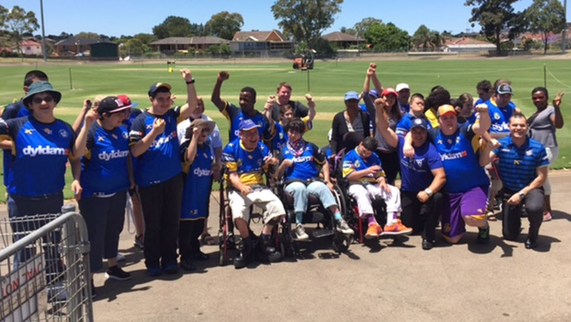 Participants at the 'All Abilities Festival or Sport' decked out in Blue and Gold!