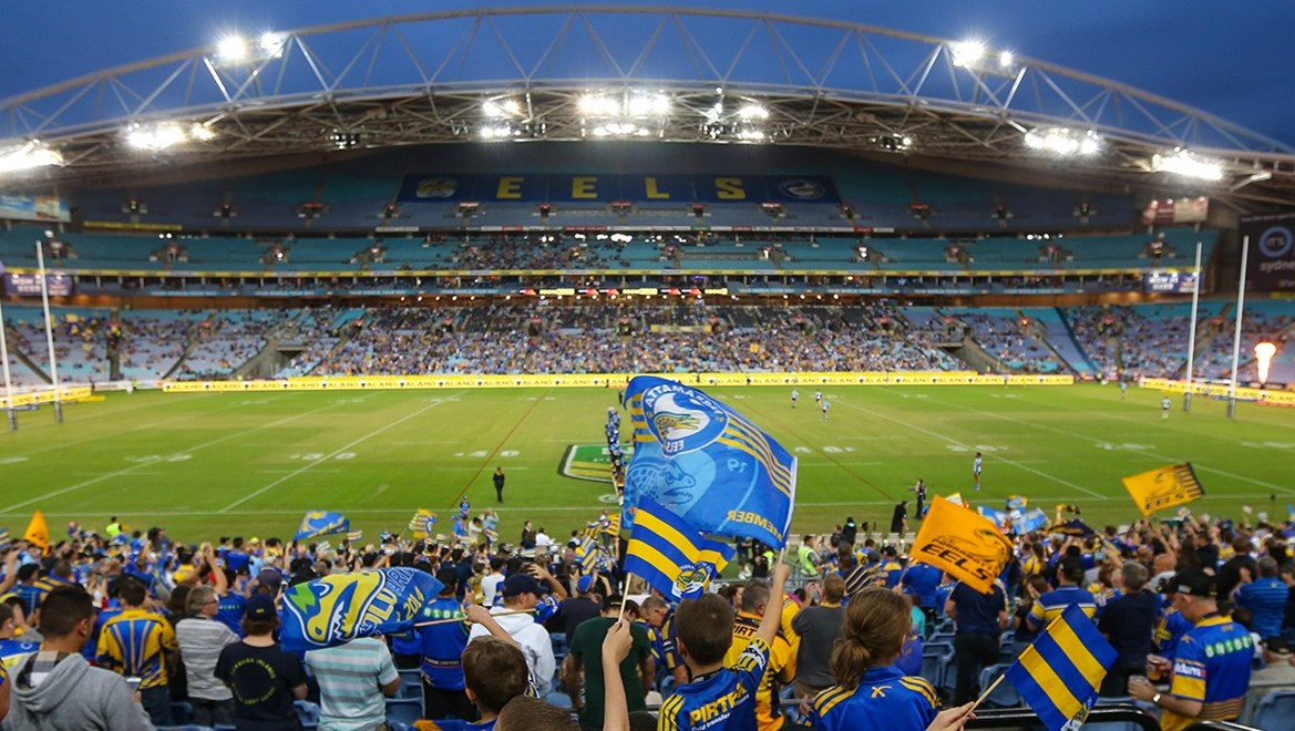 Competition - NRL. Round - Round 4. Teams - Parramatta Eels v Cronulla Sharks. Date - 25th of March 2017. Venue - ANZ Stadium, Olympic Park NSW. Photographer - Paul Barkley | © NRL Photos