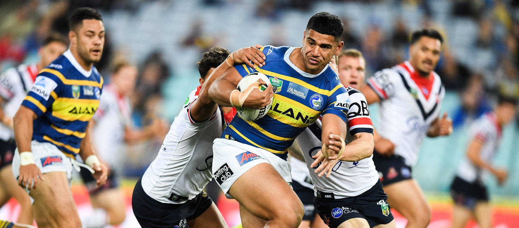 Eels v Roosters in photos