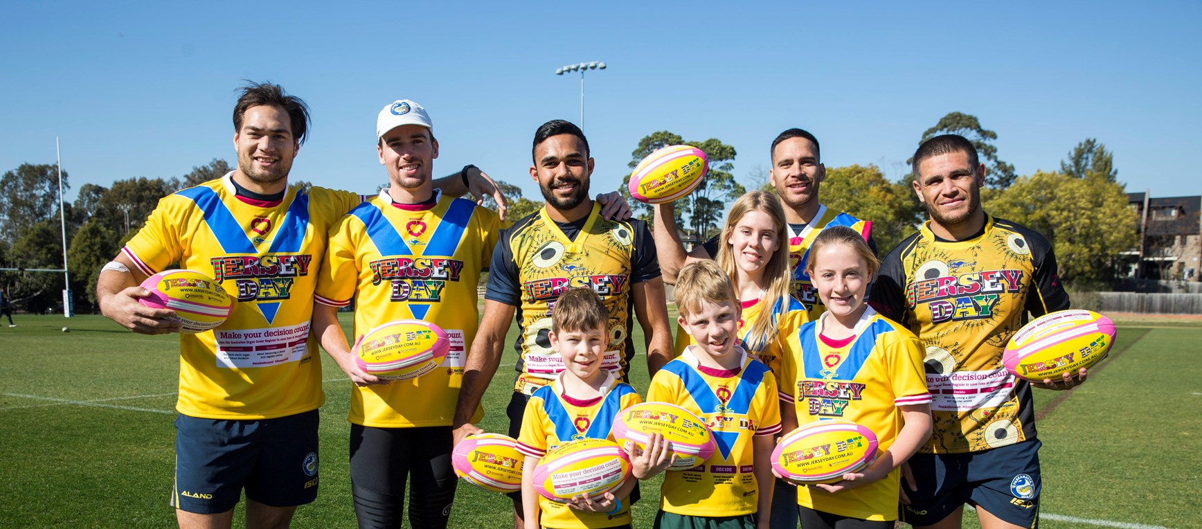 Eels support Jersey Day in photos