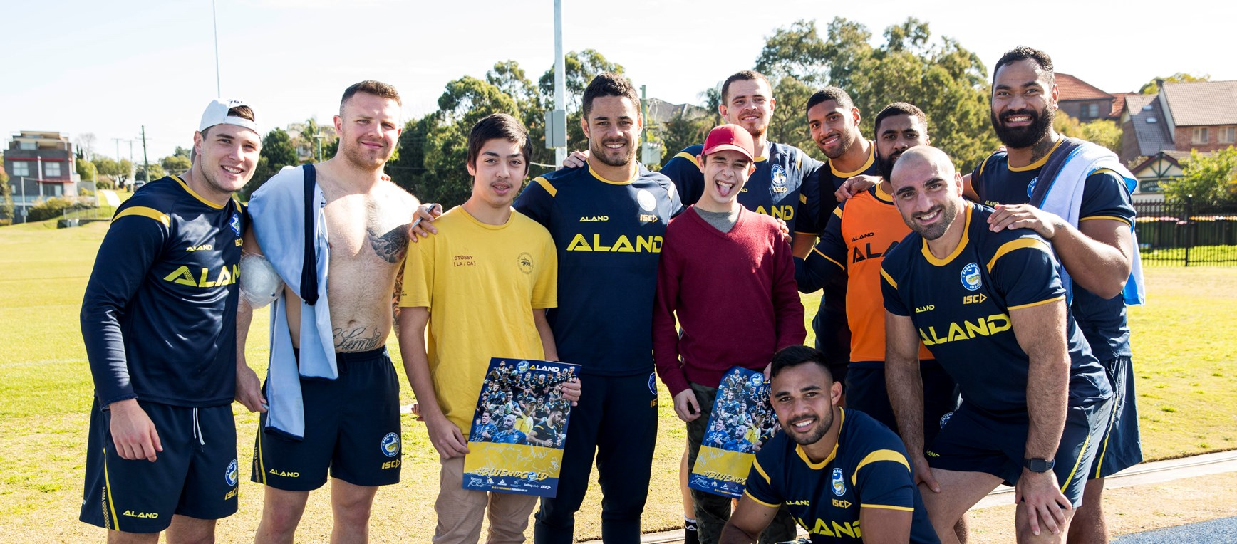Parra Mission visit Blue & Gold training