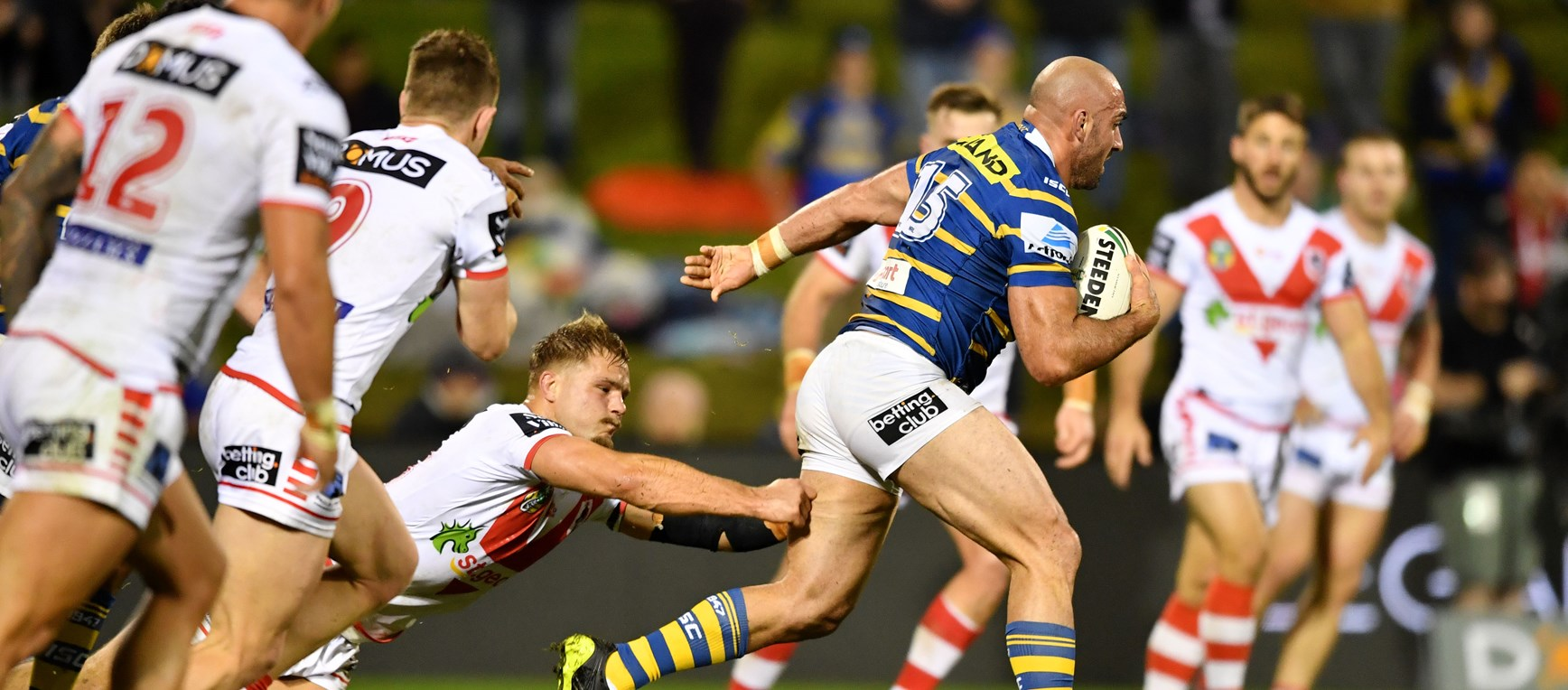 Dragons v Eels, Round 16 in photos