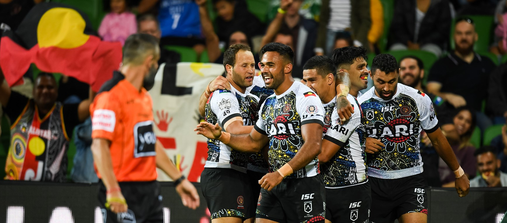 Eels in action during NRL All Stars clash