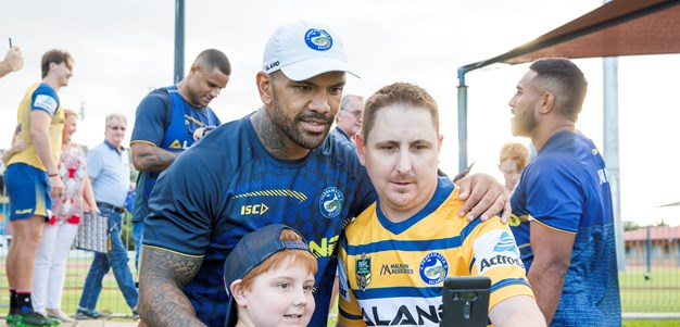 Blue & Gold Members welcome Eels to Townsville